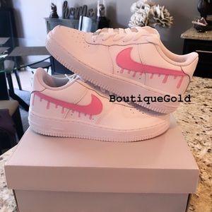 Nike Air Force 1 Drip CUSTOMS- Pink